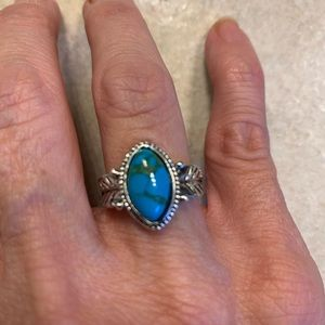 New Silver Natural Turquoise Size 6
